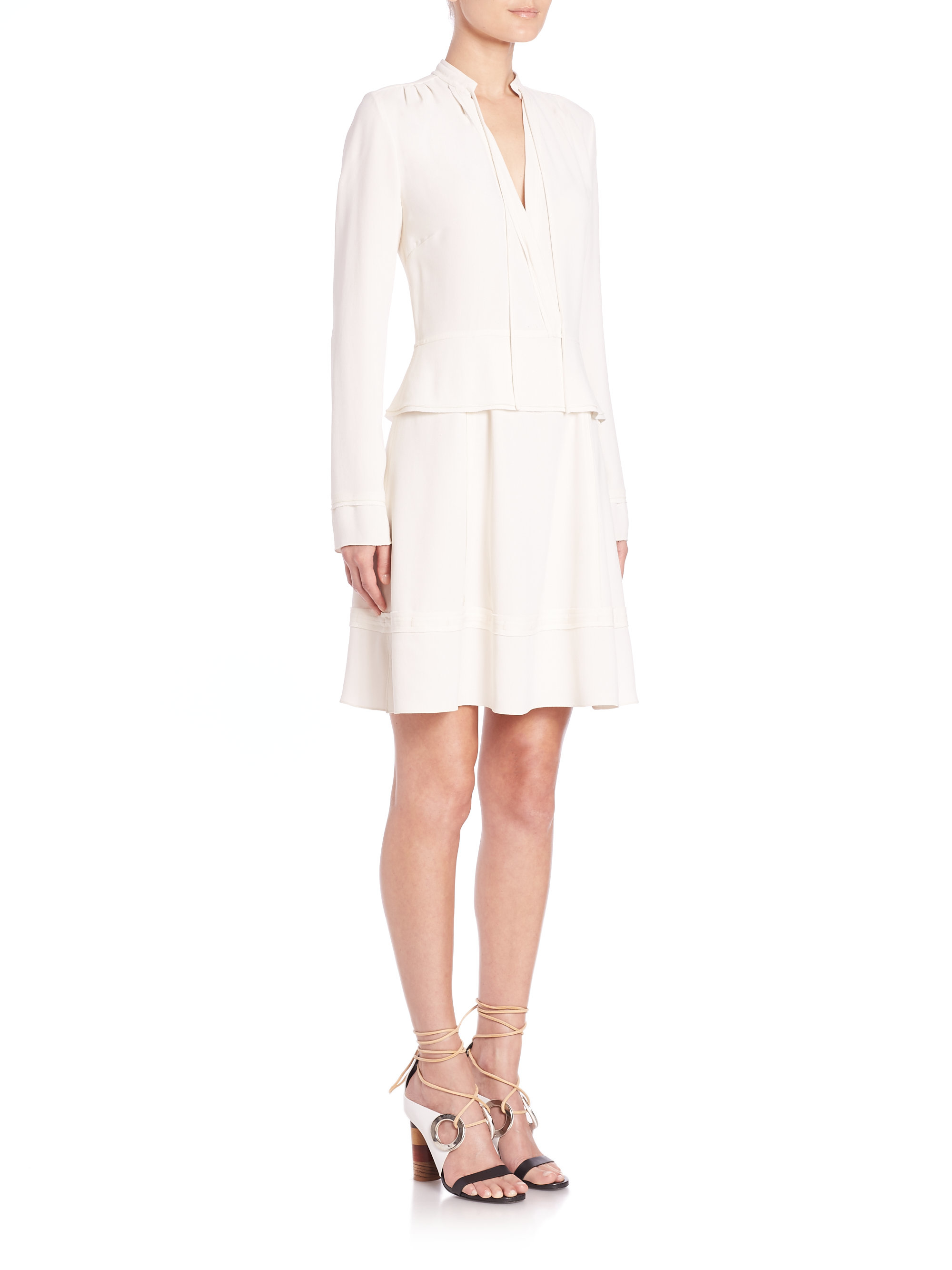 Proenza Schouler Woman Cold-shoulder Satin-crepe Dress White Size 2 Proenza Schouler Get Authentic Cheap Online Free Shipping Low Cost Cheap Price Discount Authentic 2018 For Sale Outlet Cheap Prices QC3N0NuCt