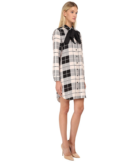 c70c67cd18b Kate Spade Woodland Plaid Griffin Dress in Natural - Lyst