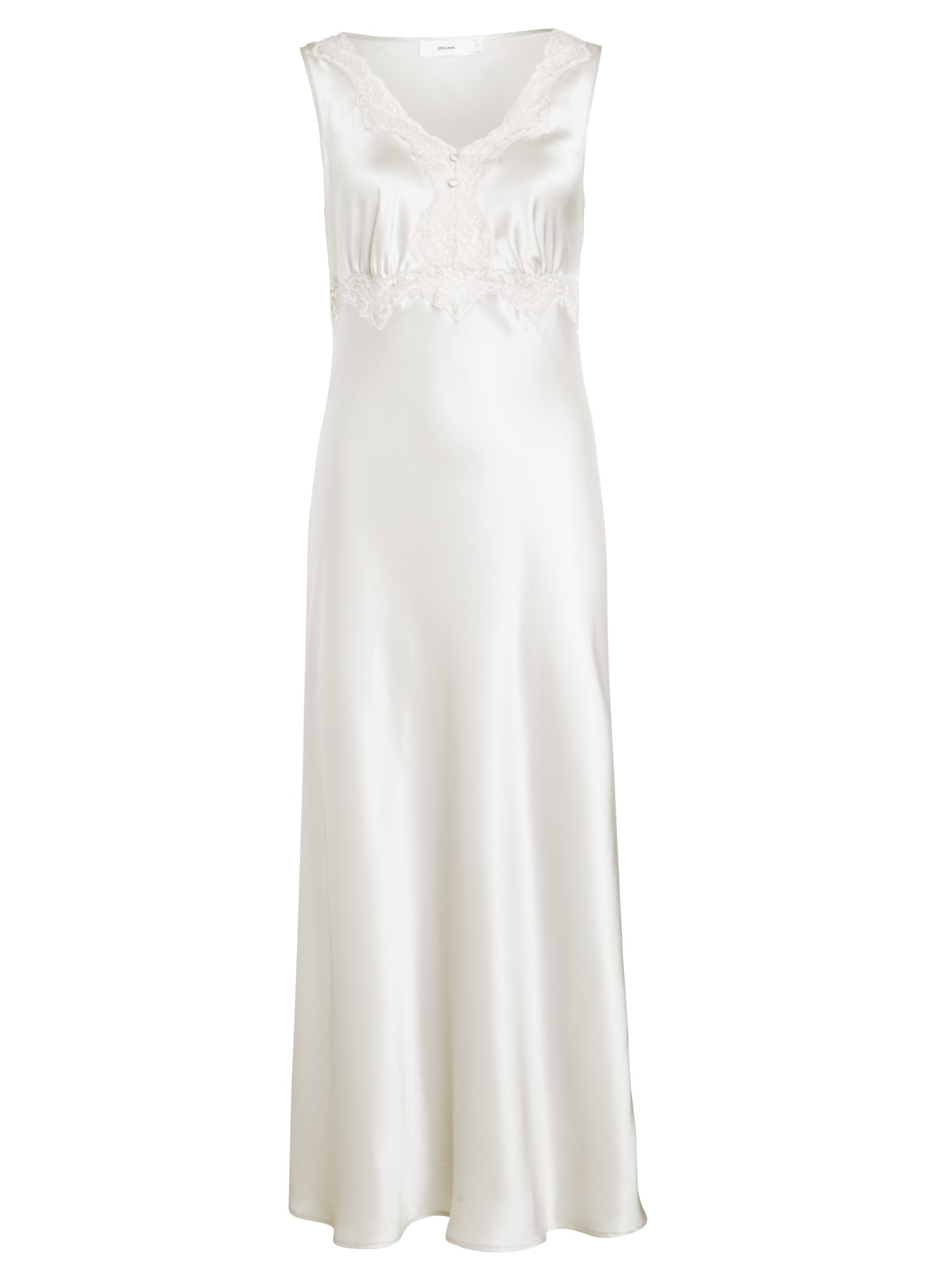 8aaf627783 John Lewis Long Silk Nightdress in Metallic - Lyst