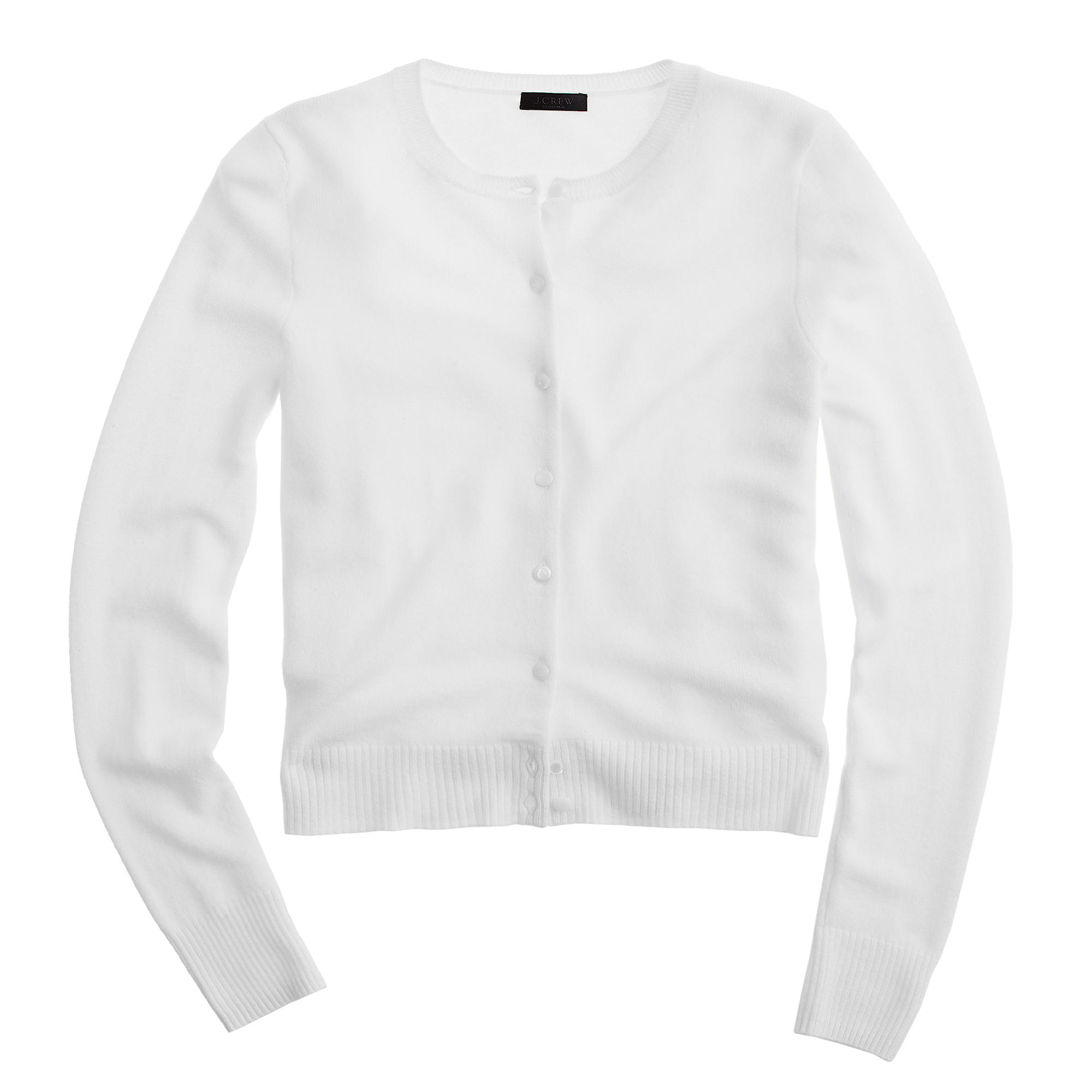J.crew Collection Cashmere Cardigan Sweater in White | Lyst