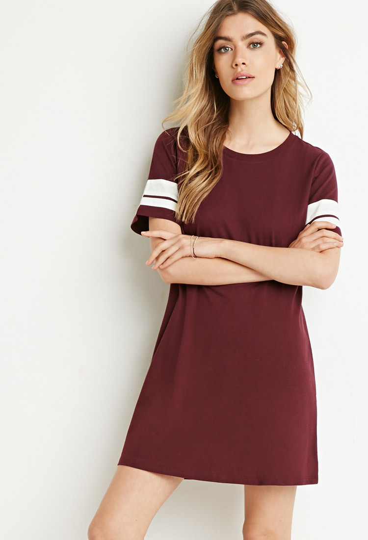 26b1cf219de4 Burgundy Long Sleeve Shirt Forever 21