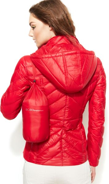 Bcbgeneration Packable Chevron Quilted Down Puffer Jacket