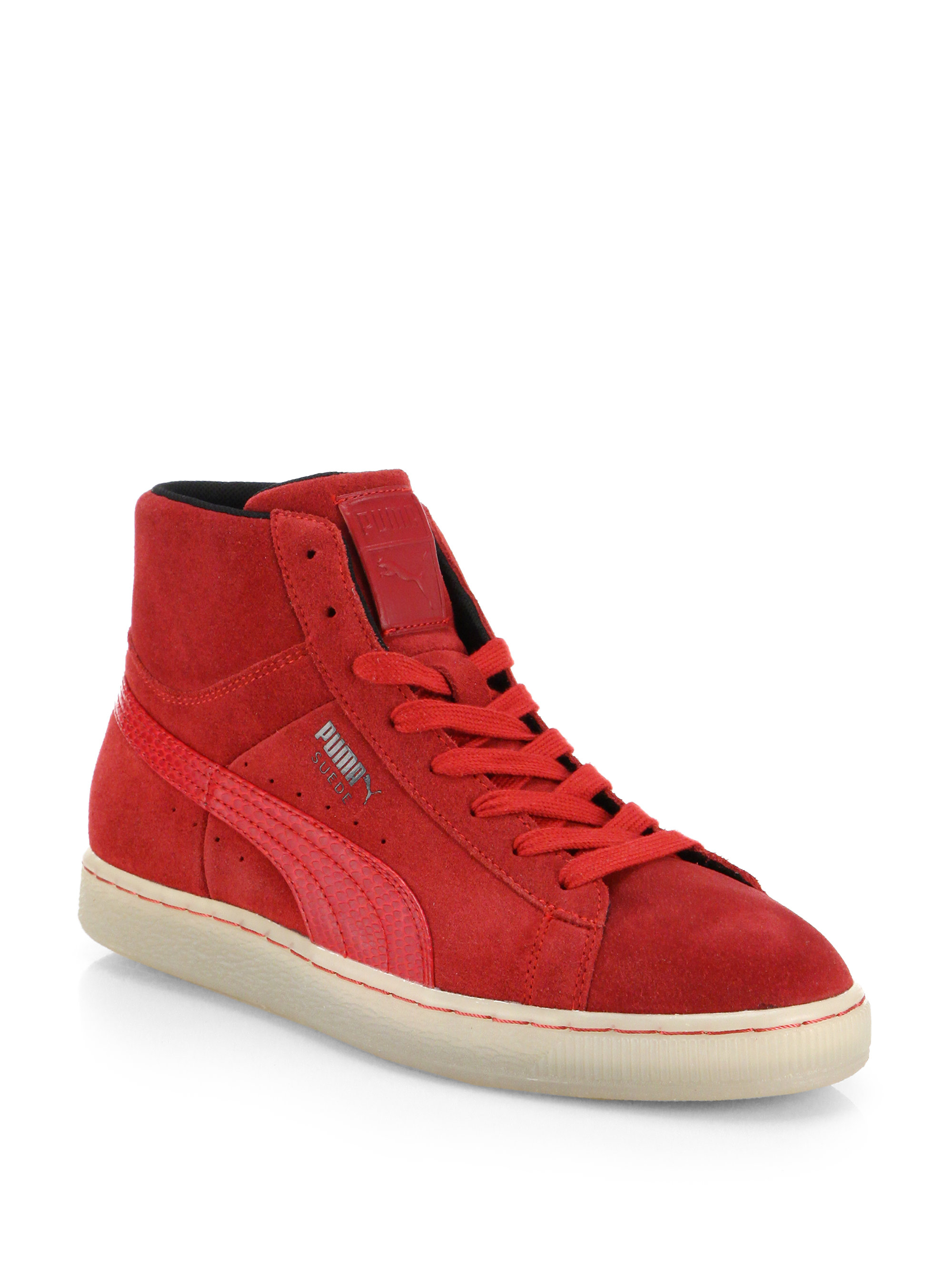 ... promo code for lyst puma classic suede high top sneakers in red for men  06183 af22f c260552e2
