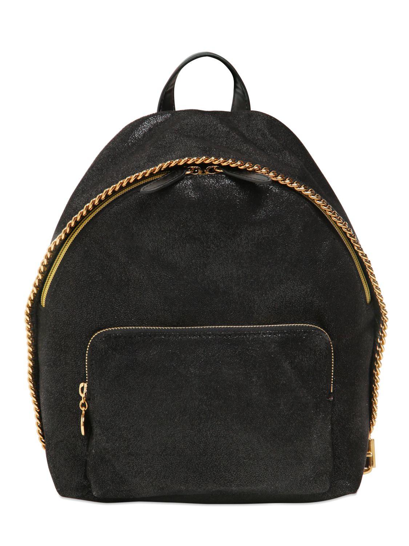 stella mccartney falabella faux leather backpack in black lyst. Black Bedroom Furniture Sets. Home Design Ideas