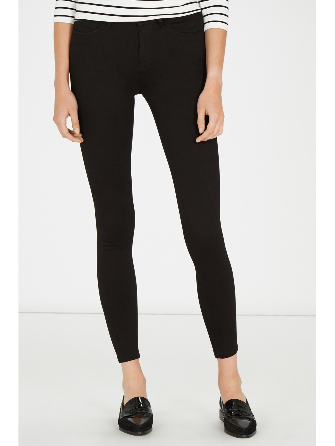 Warehouse Powerhold Skinny Jeans in Black | Lyst