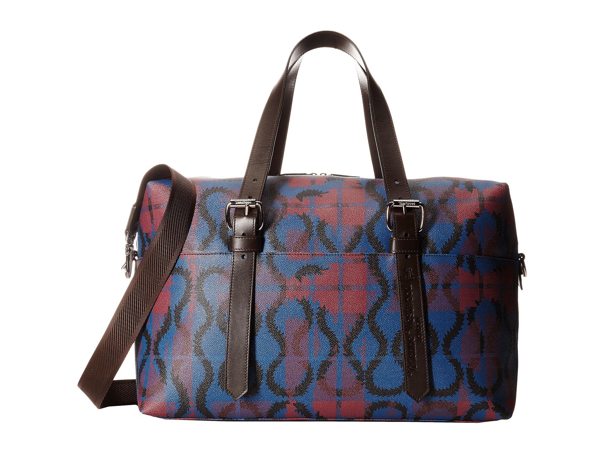 084ea3c0e9 Vivienne Westwood Squiggle Weekender Bag in Black - Lyst