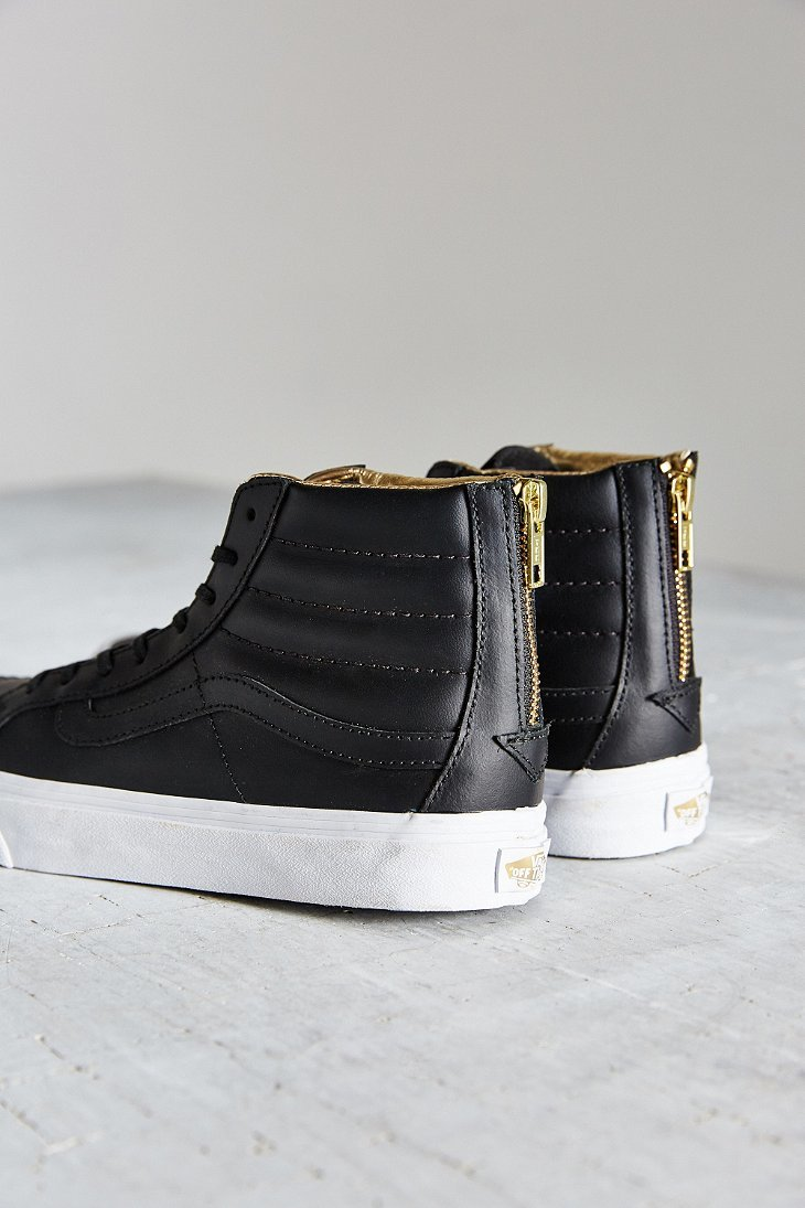 leather sk8 hi slim vans