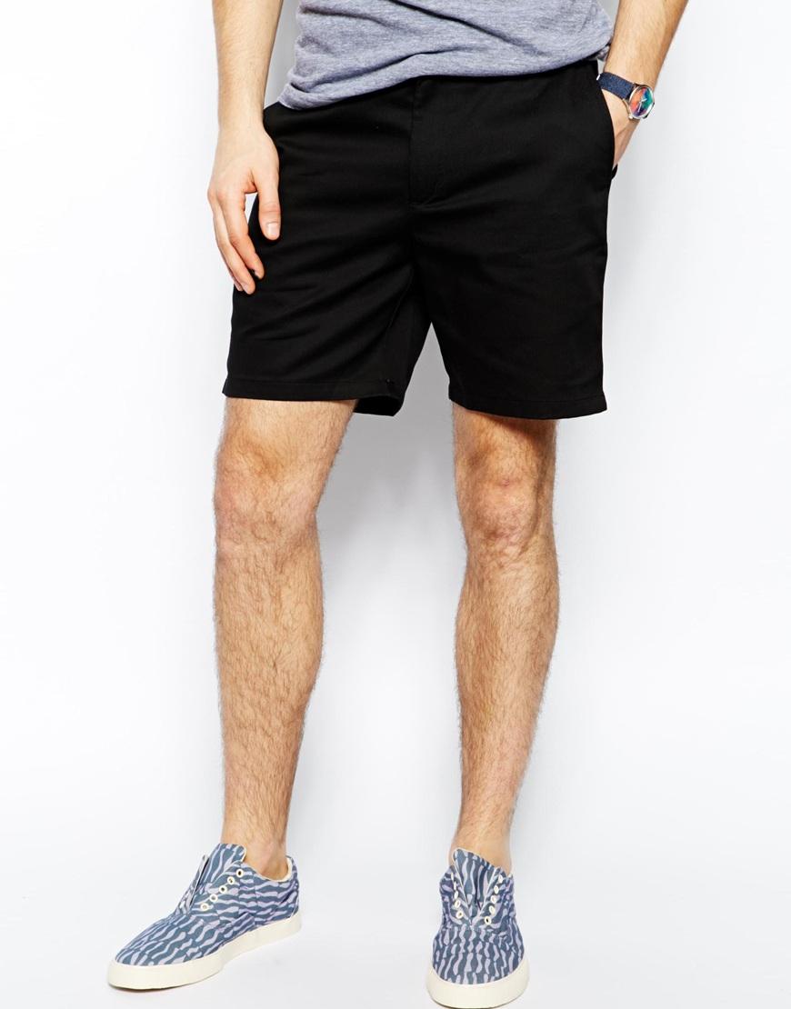 American apparel Chino Shorts In Twill in Black for Men | Lyst