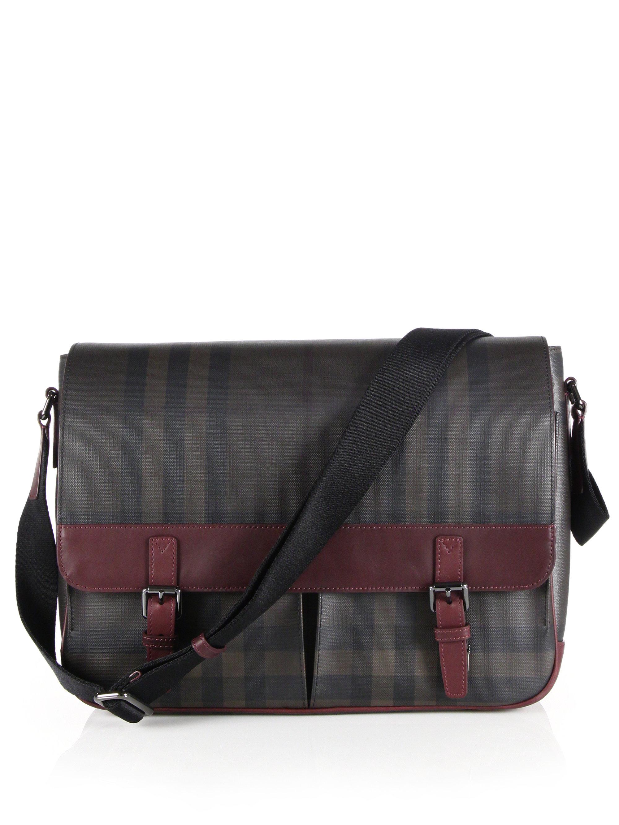 47ec7b8db197 Lyst - Burberry Fairbank Messenger Bag in Purple for Men