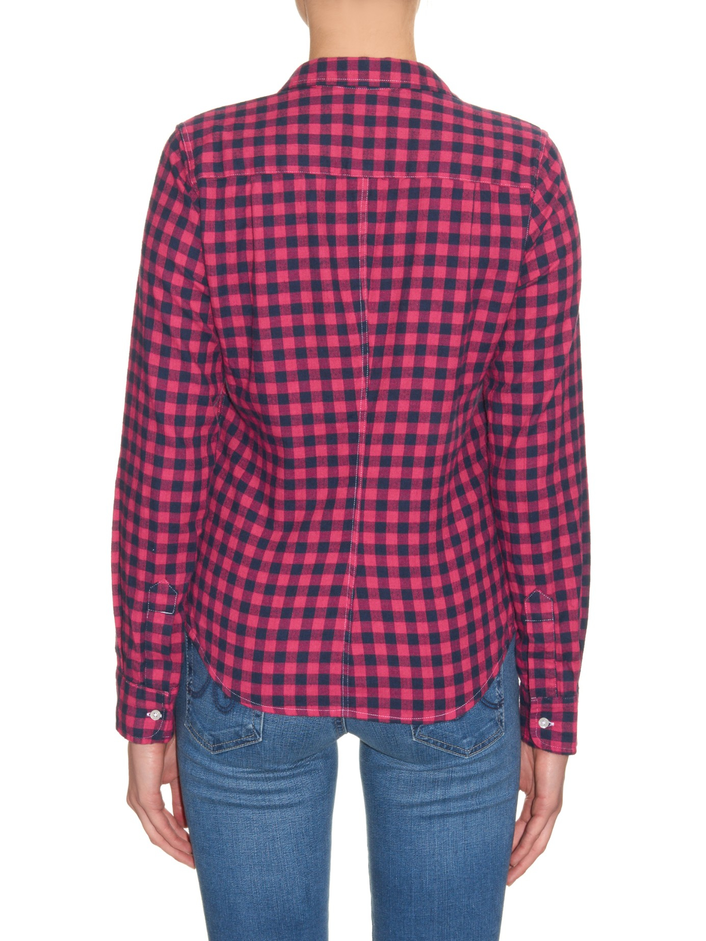 Lyst Frank Eileen Barry Checked Cotton Shirt In Red