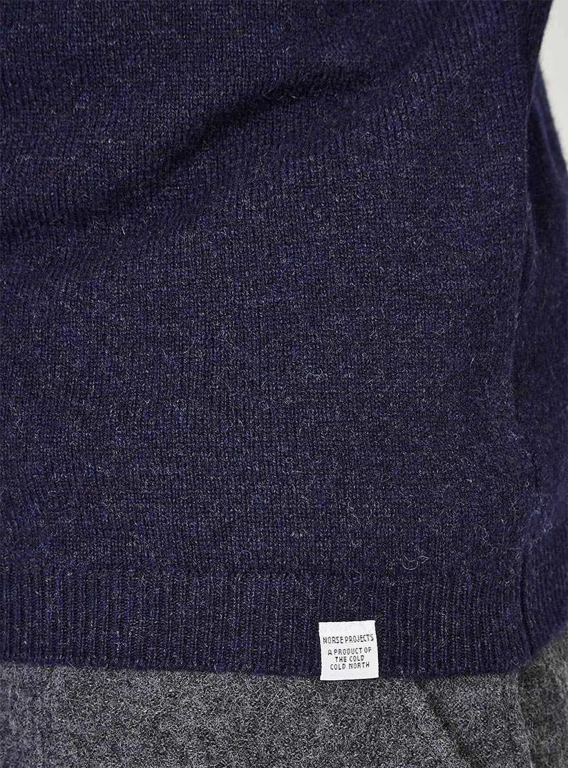 c2afb4d6450 Lyst - Norse Projects Sigfred Lambswool Knit Dark Navy in Blue for Men