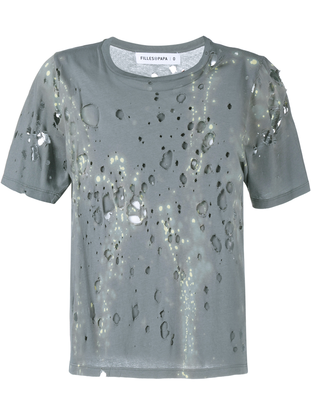 Filles a papa twilight distressed t shirt in gray lyst for How to make a distressed shirt