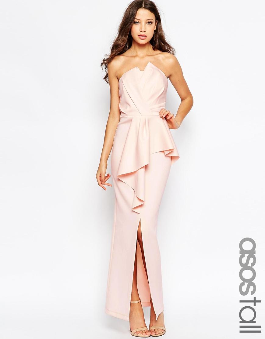 Long maxi peplum dress