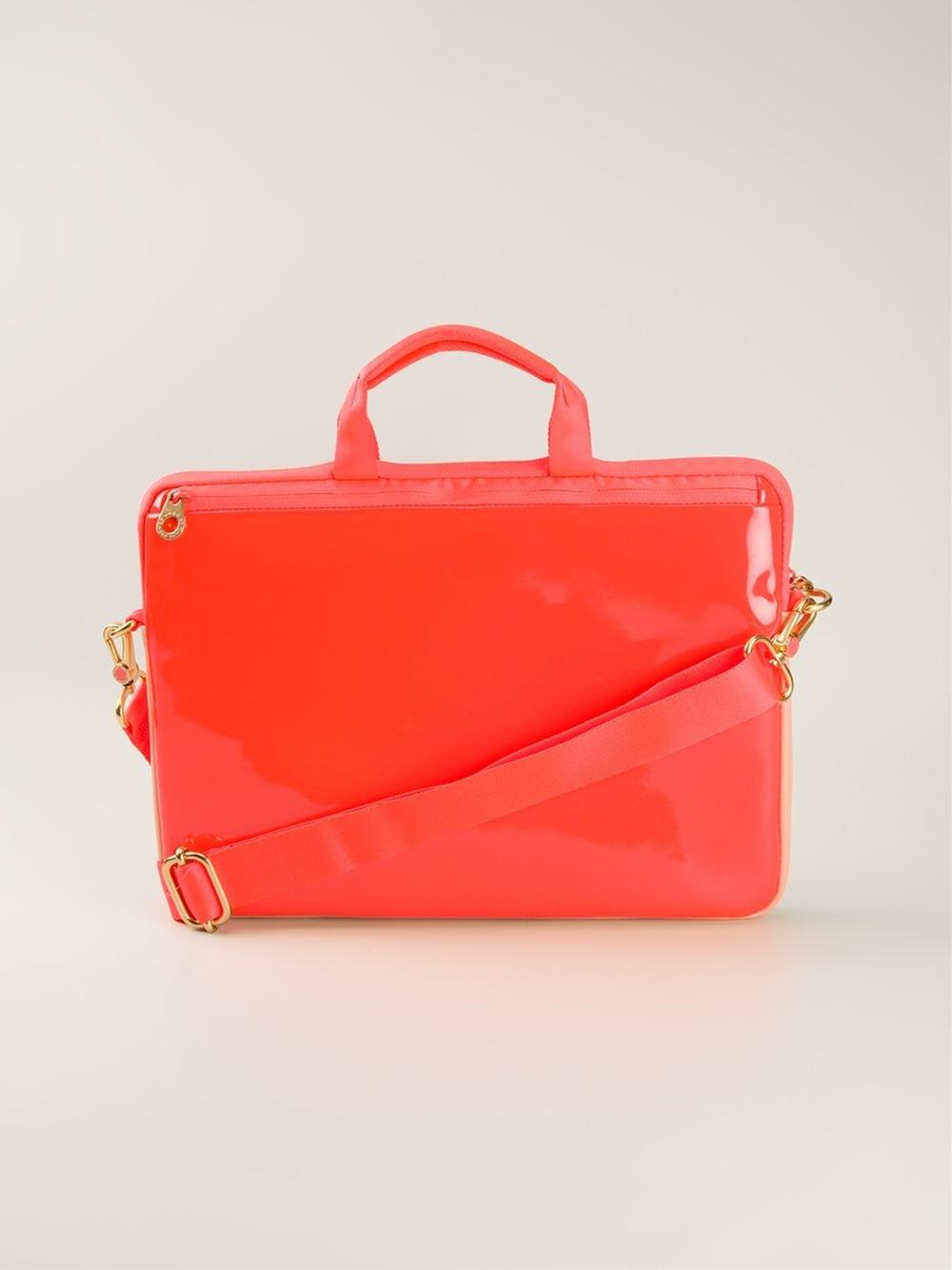 marc by marc jacobs varnished laptop bag in red yellow orange lyst. Black Bedroom Furniture Sets. Home Design Ideas