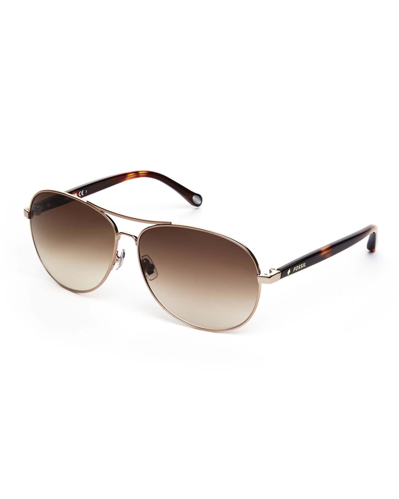 beceacc41f Fossil Almond 1005 S Aviator Sunglasses in Metallic - Lyst
