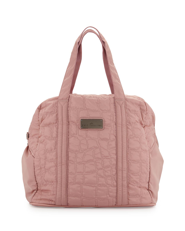 adidas By Stella McCartney Quilted Tech-fabric Essential Gym Bag in ... 673bcf4fe900d