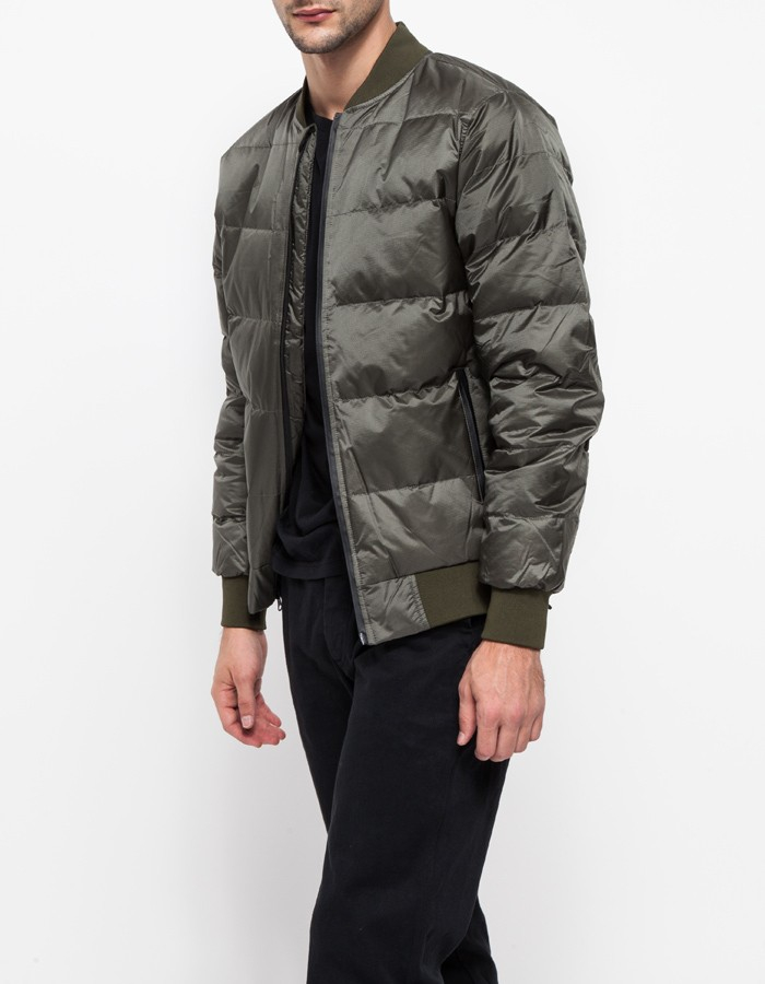 Han kjobenhavn Bomber Down Jacket in Gray for Men | Lyst
