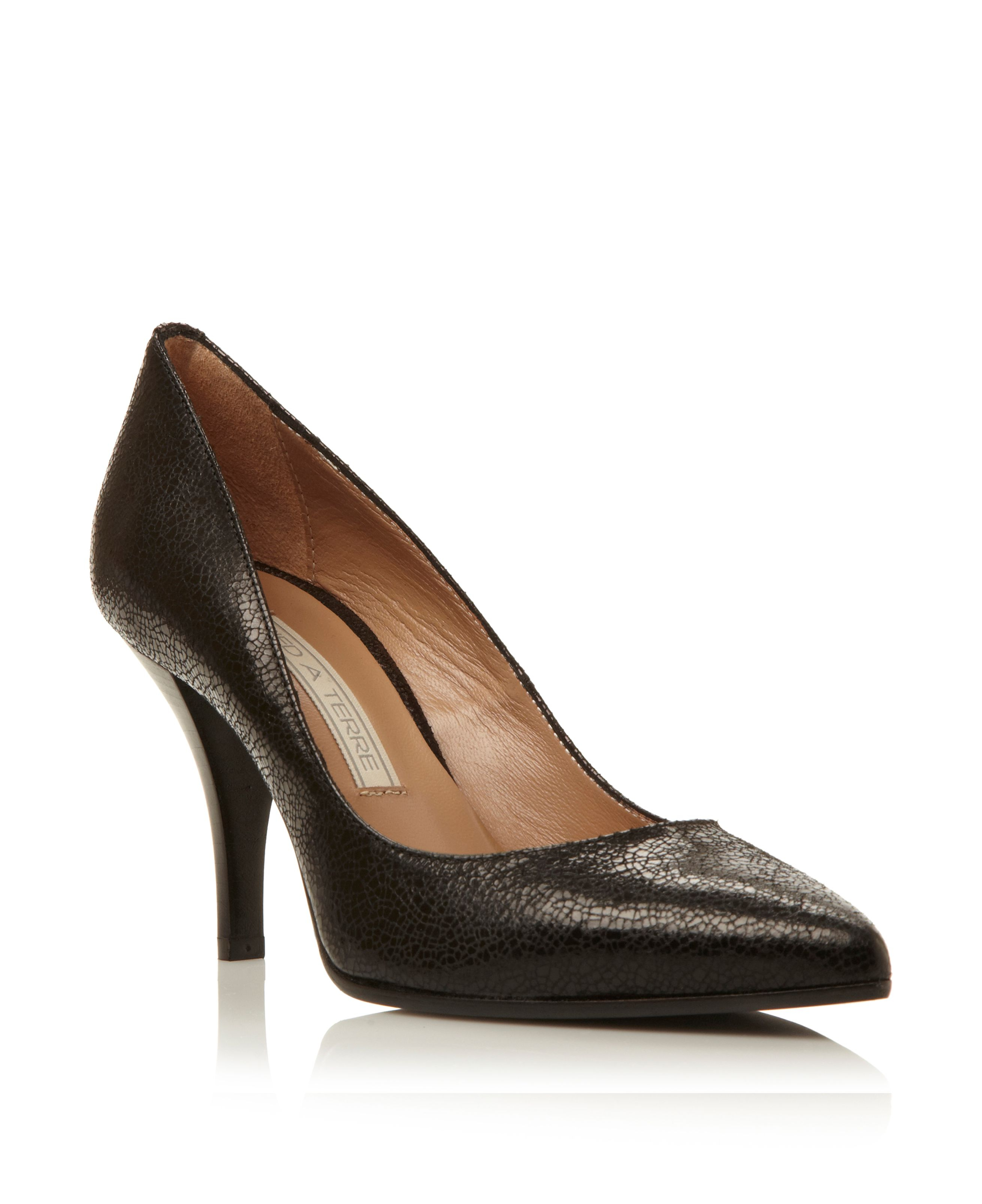 Pied A Terre Amisp Pointed Single Sole Court Shoes In
