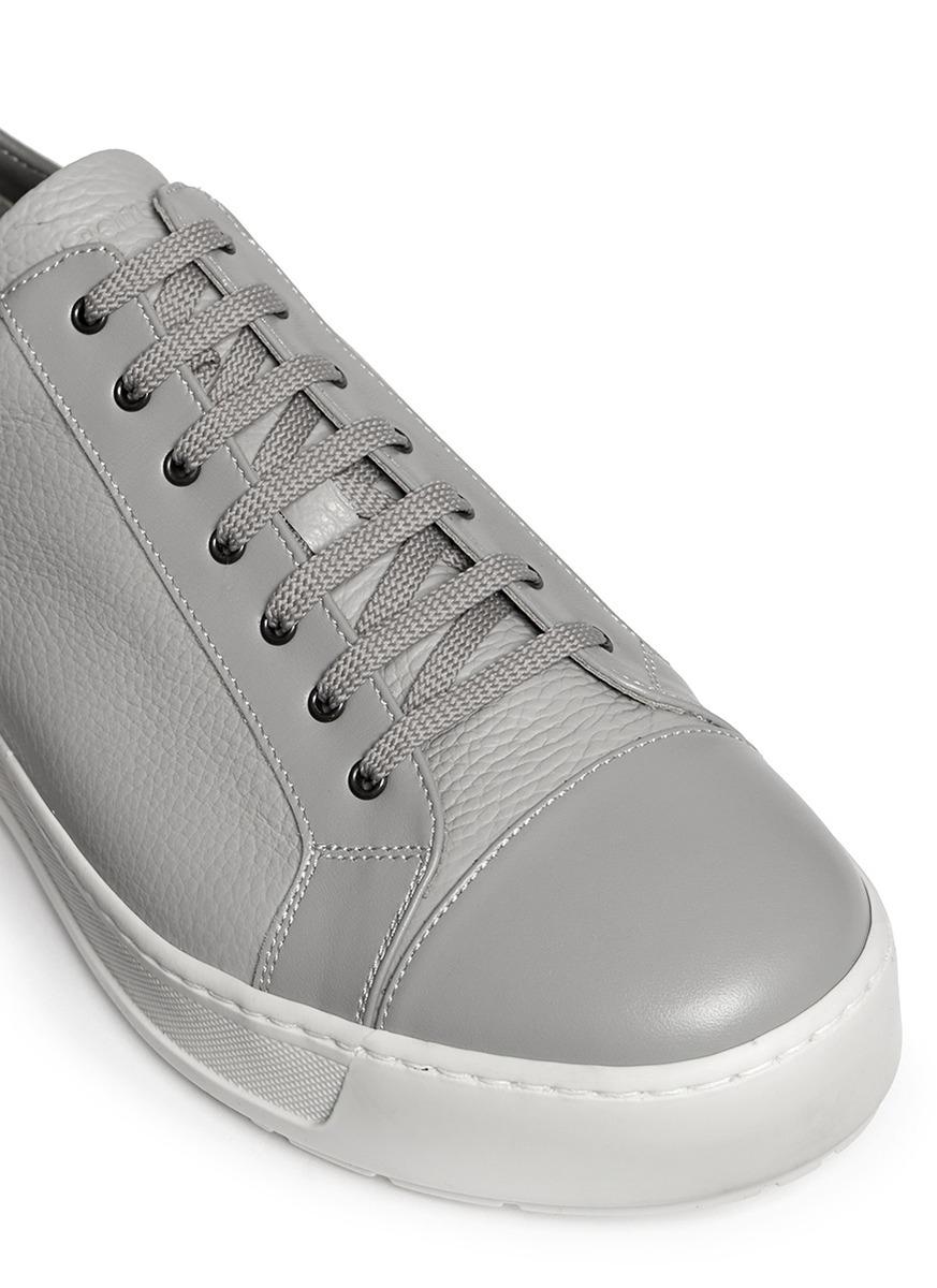 Lyst Neil Barrett Sheffield Contrast Leather Sneakers