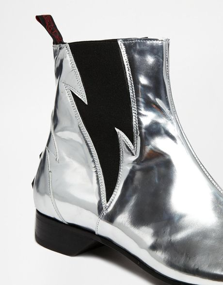 jeffery west lightning chelsea boots in silver for men lyst. Black Bedroom Furniture Sets. Home Design Ideas