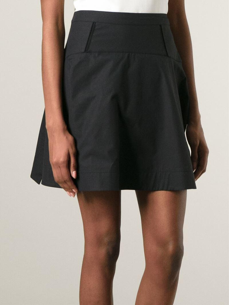 Proenza schouler Short A-line Skirt in Black | Lyst