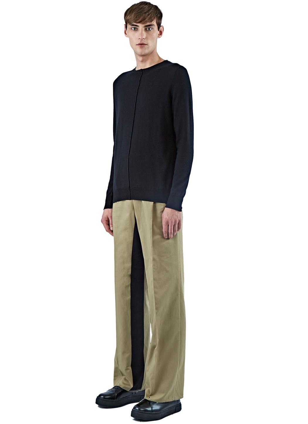 Yang li Men's Wide Leg Chino Pants In Khaki for Men | Lyst