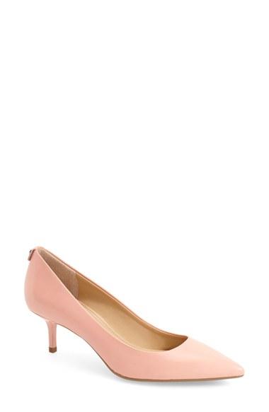 557b928b6edf Lyst - MICHAEL Michael Kors Kitten Heel Pumps in Pink