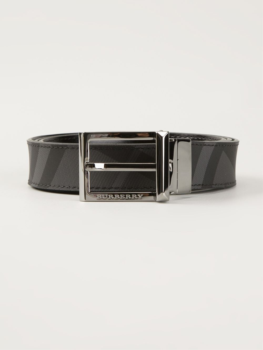 54d565325e3 Lyst - Burberry  Charcoal Check  Belt in Gray for Men