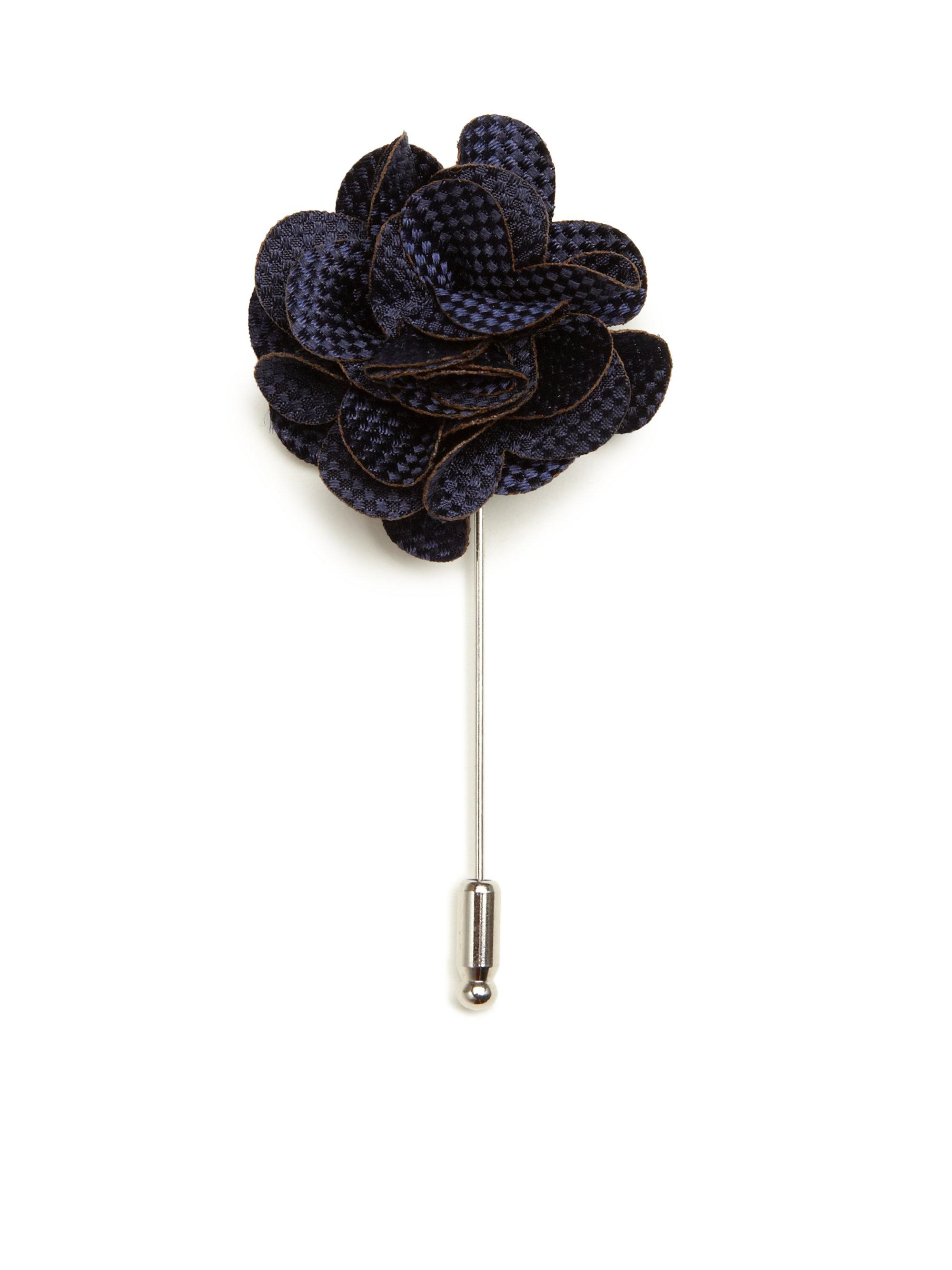 Lyst Saks Fifth Avenue Silk Flower Lapel Pin In Blue For Men