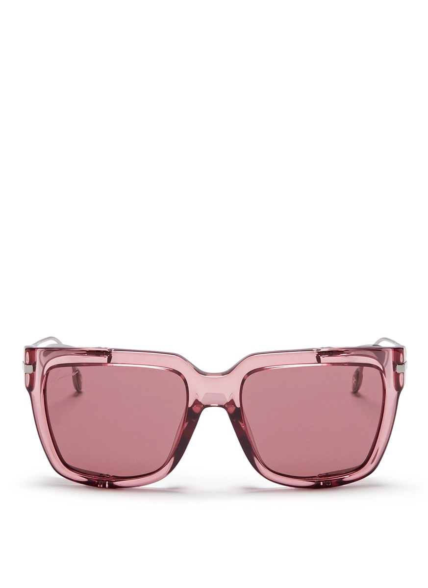 9617022b06c34 Gucci Metal Blinkers Acetate Sunglasses in Pink