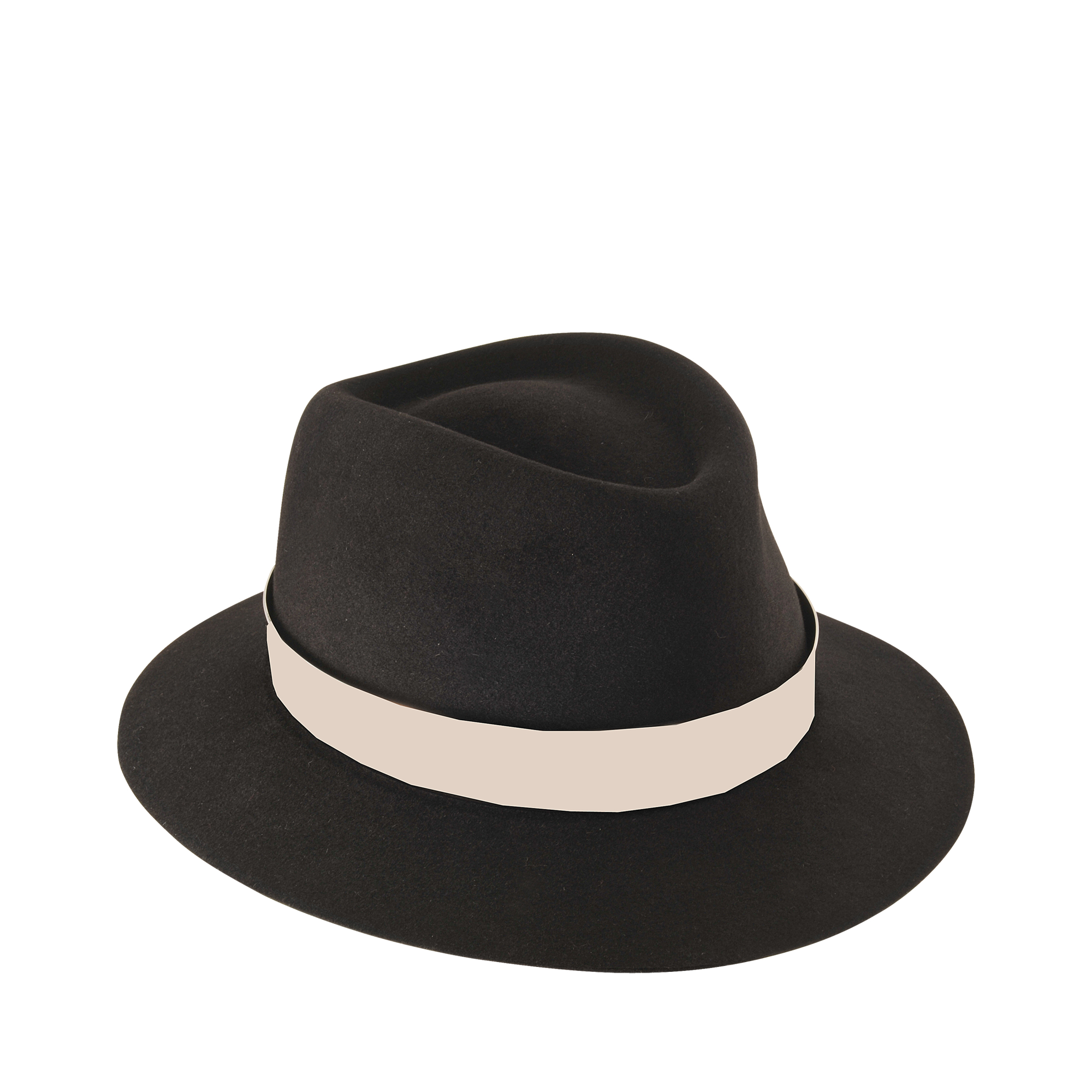 Maison michel andr felt and metal hat in black lyst for Maison michel