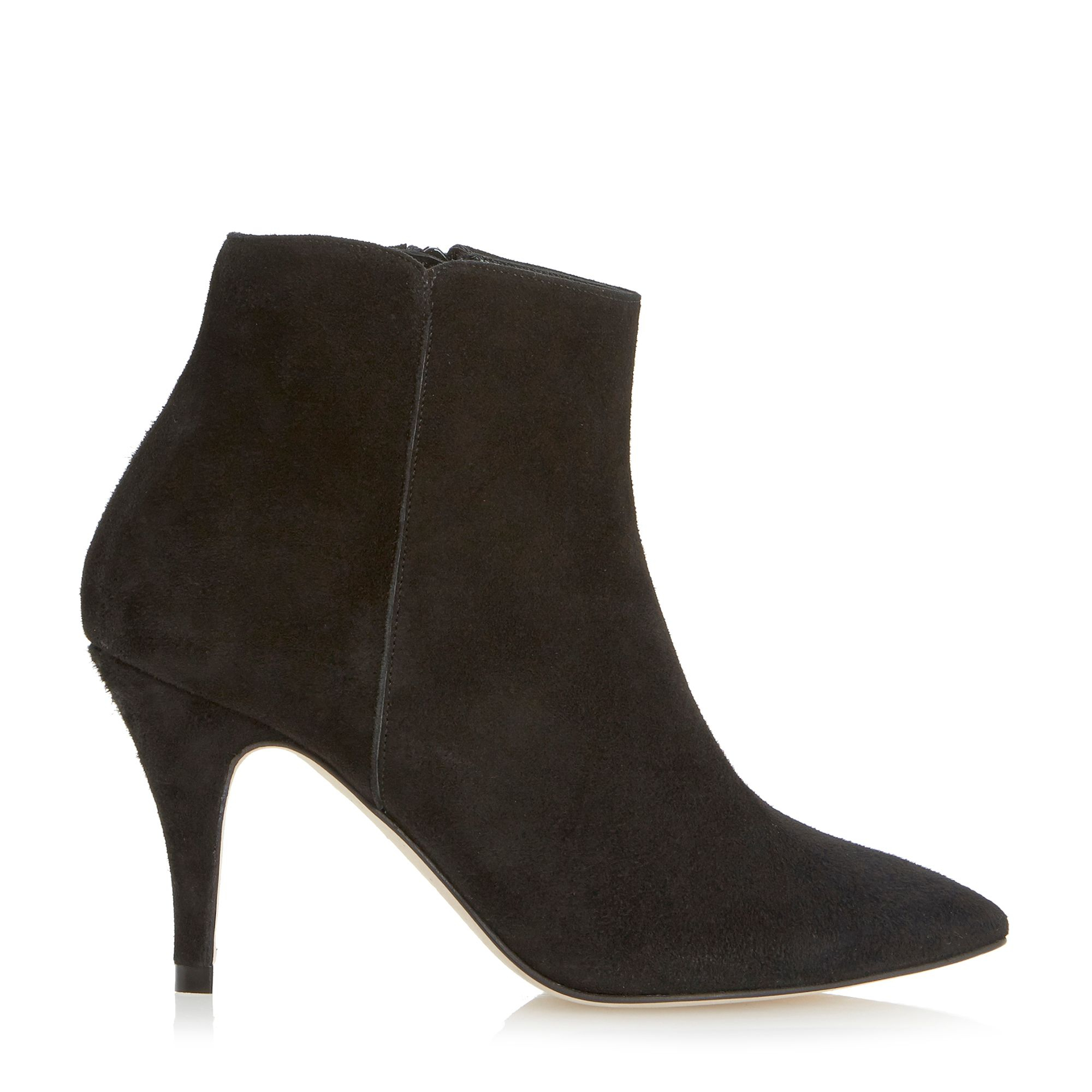 Pied A Terre Nastel Suede Ankle Boots In Black Black