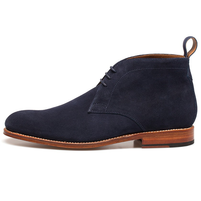 Foot the coacher Marcus Suede Chukka Boots in Blue for Men | Lyst