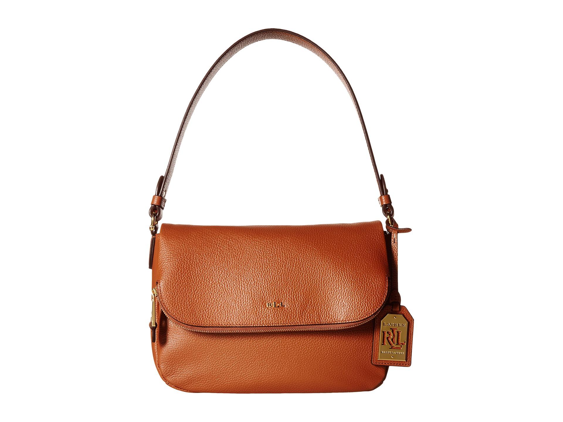 dc84a4177dbe Lyst - Lauren by Ralph Lauren Harrington Shoulder Bag in Brown