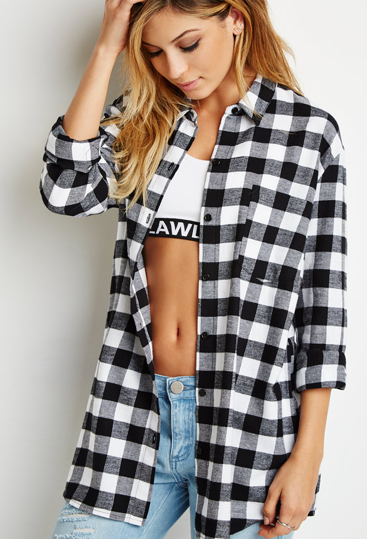 Forever 21 Buffalo Plaid Shirt You 39 Ve Been Added To The