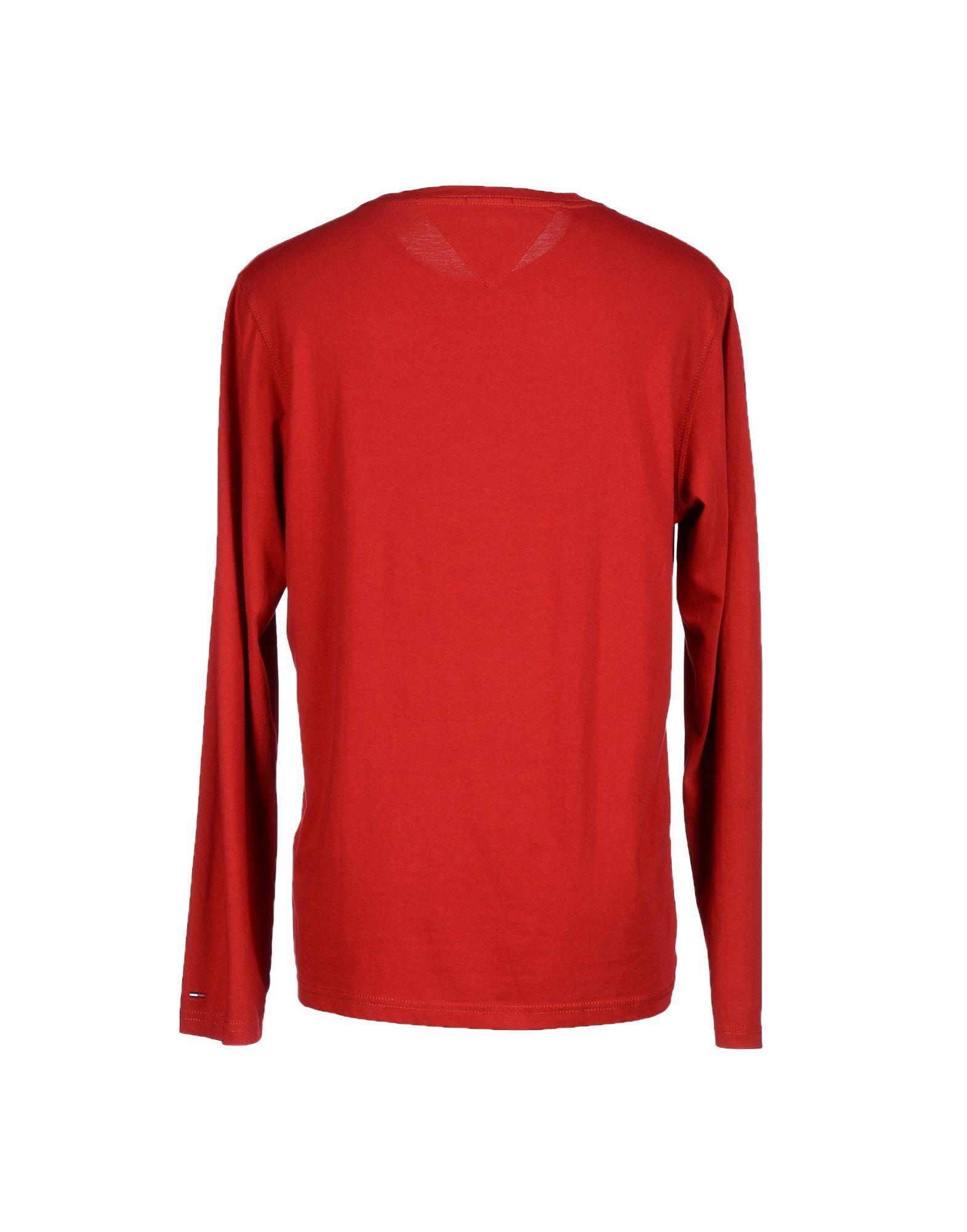 lyst hilfiger denim t shirt in red for men. Black Bedroom Furniture Sets. Home Design Ideas