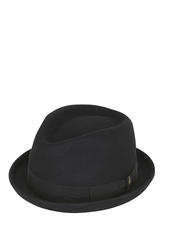 5eb1c461d1d844 Borsalino Lapin Fur Felt Pork Pie Hat in Black - Lyst