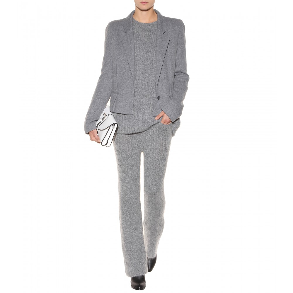 lyst haider ackermann knit sweater in gray. Black Bedroom Furniture Sets. Home Design Ideas