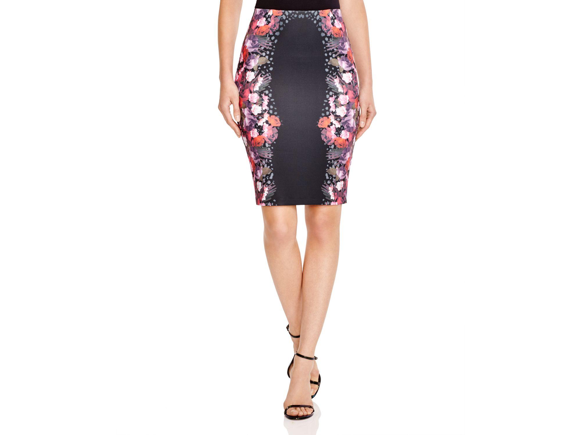 Guess High Waist Scuba Pencil Skirt in Black | Lyst