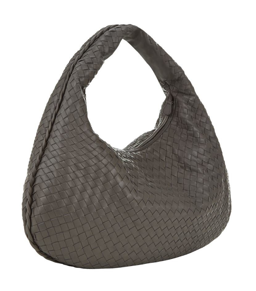ca01bab71706 Bottega Veneta Medium Intrecciato Veneta Hobo Bag in Brown - Lyst