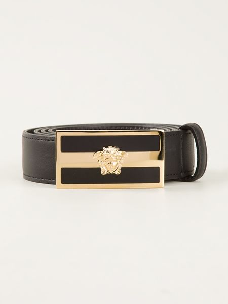 Black patent leather gloves - Versace Classic Medusa Belt In Black For Men Lyst