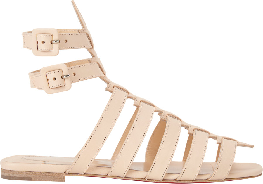 2ba3bf91afb7 ... amazon christian louboutin neronna flat gladiator sandals in natural  lyst 10276 c28bf