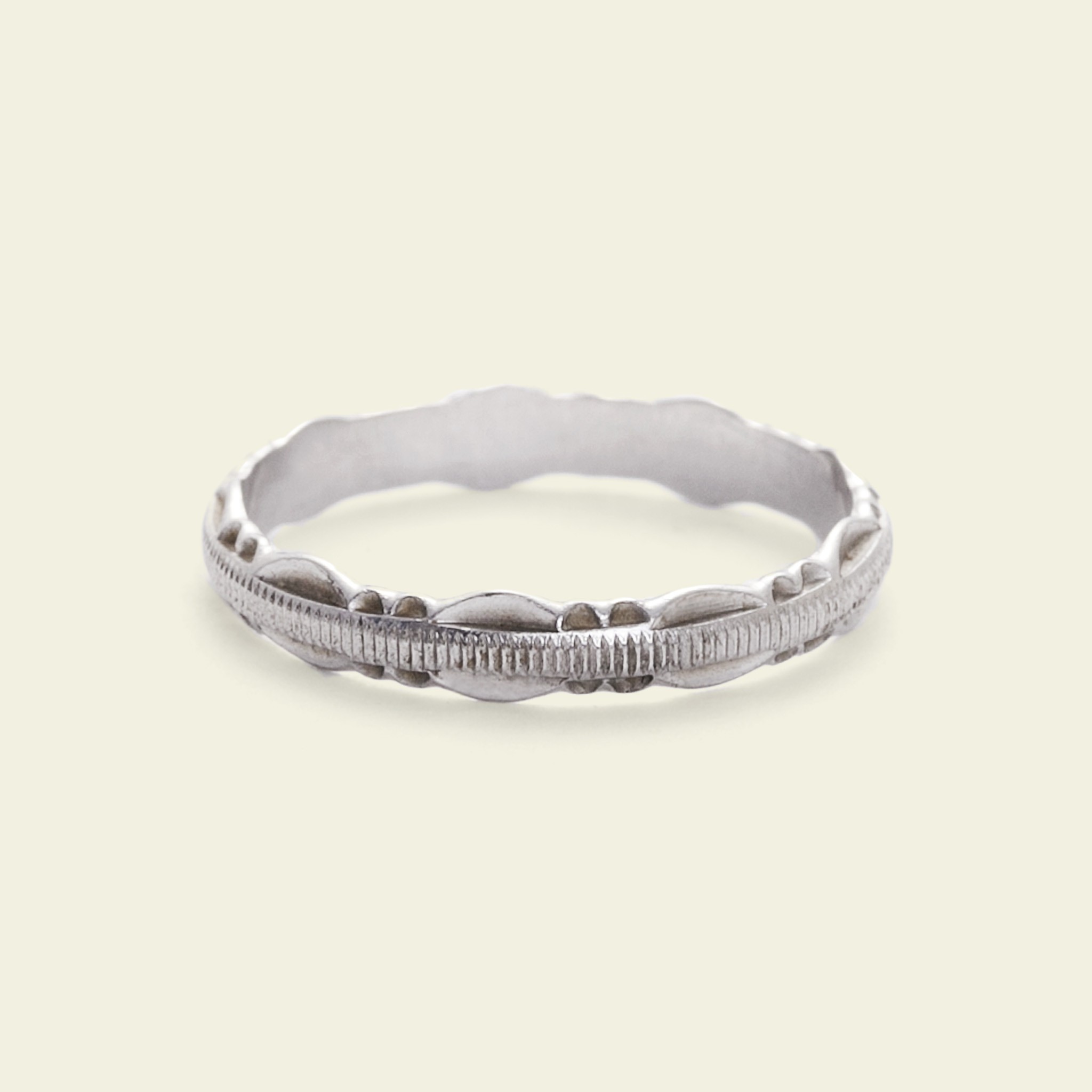 with pave diamond coast bands fishtail band item wedding scalloped