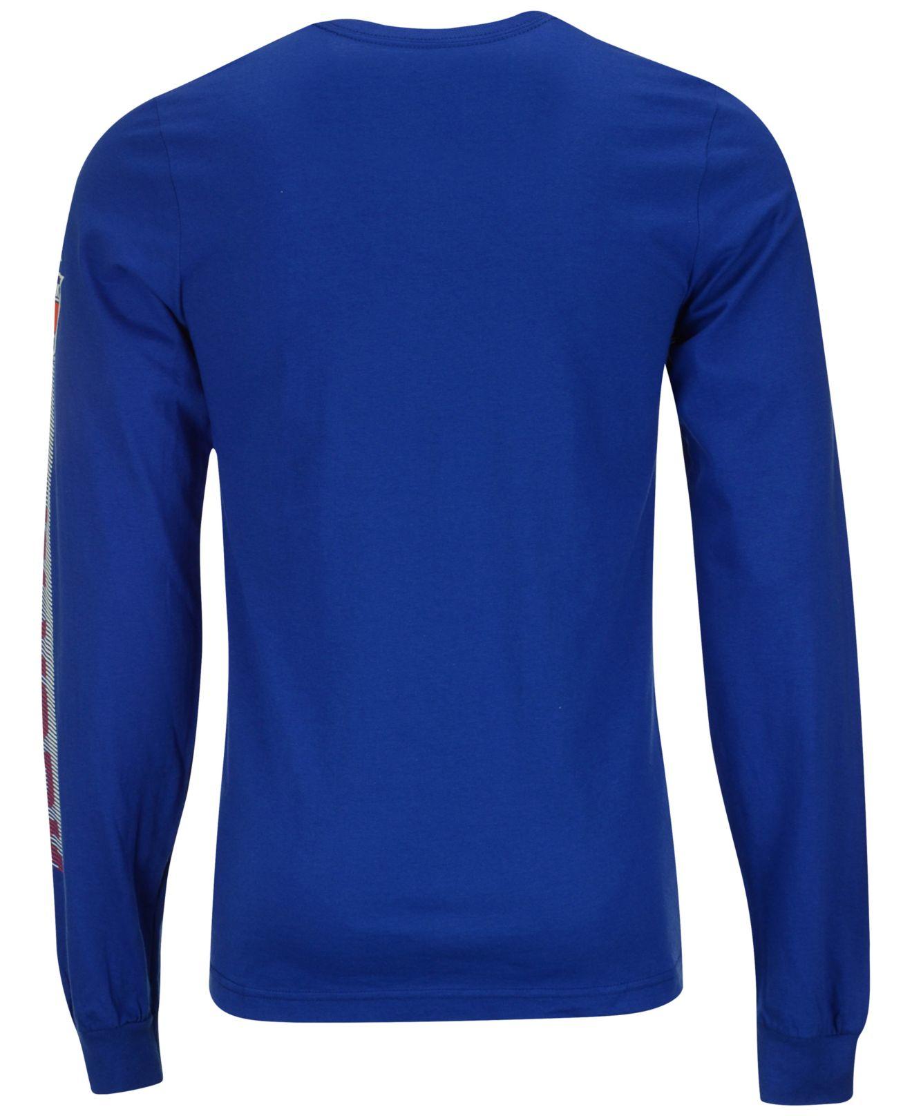 reebok s sleeve new york rangers lineup t shirt