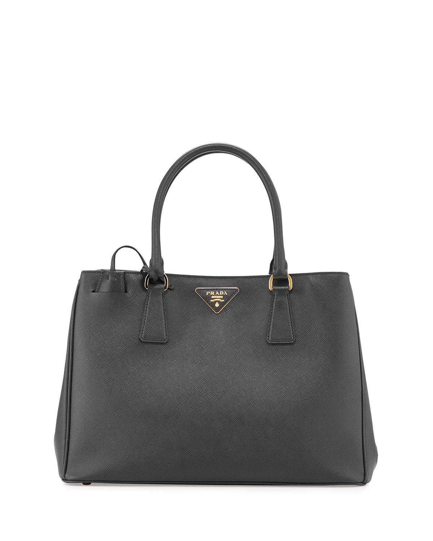 f17f000ac87b ... promo code for lyst prada saffiano lady tote bag in black 3def5 8ac43