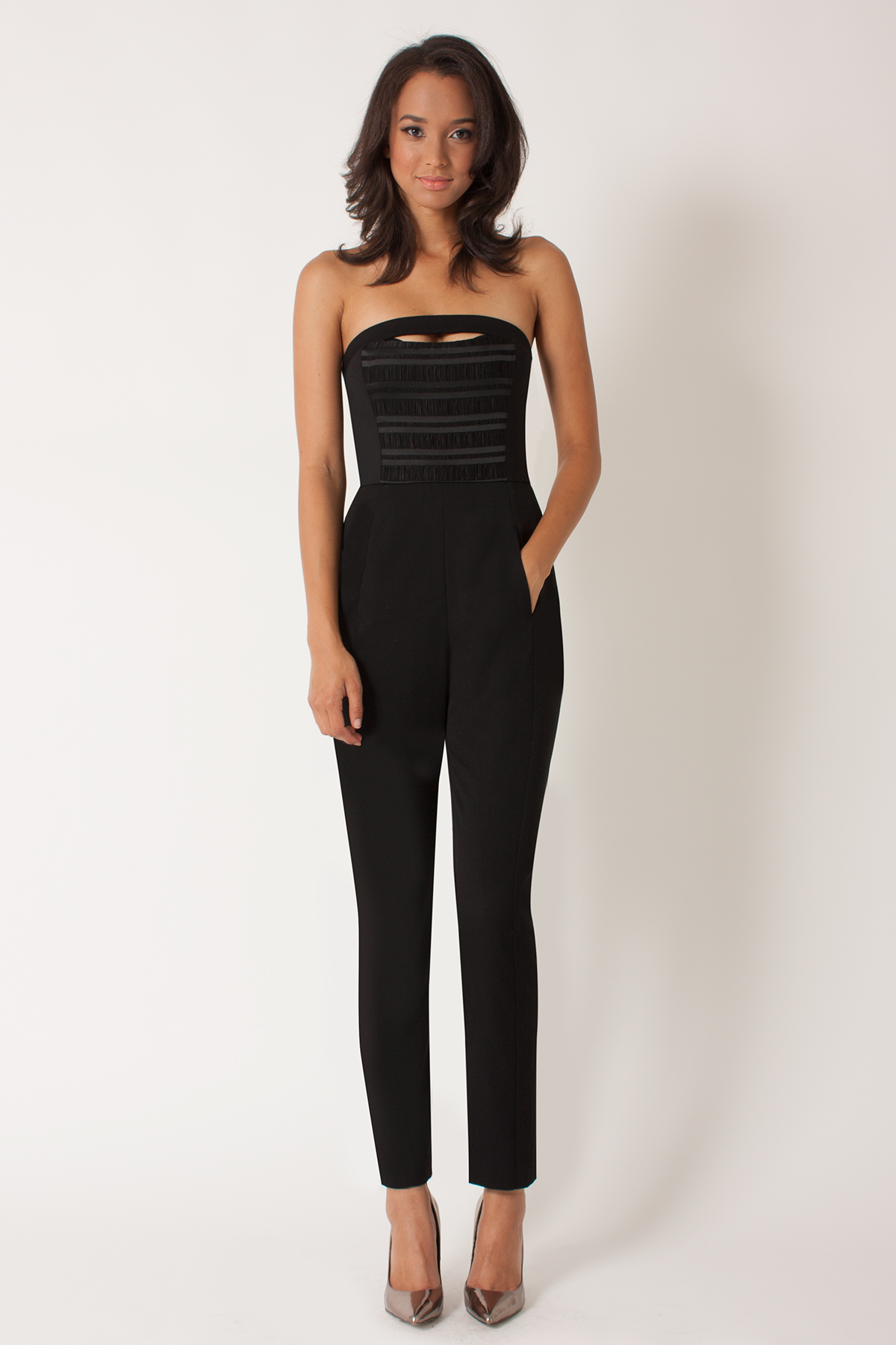 Free shipping and returns on Adelyn Rae Strapless Jumpsuit at trickytrydown2.tk A sweetheart neck bodice with interior boning gives structure to streamlined jumpsuit fitted with tailored trousers for an updated desk-to-dinner look.4/5().