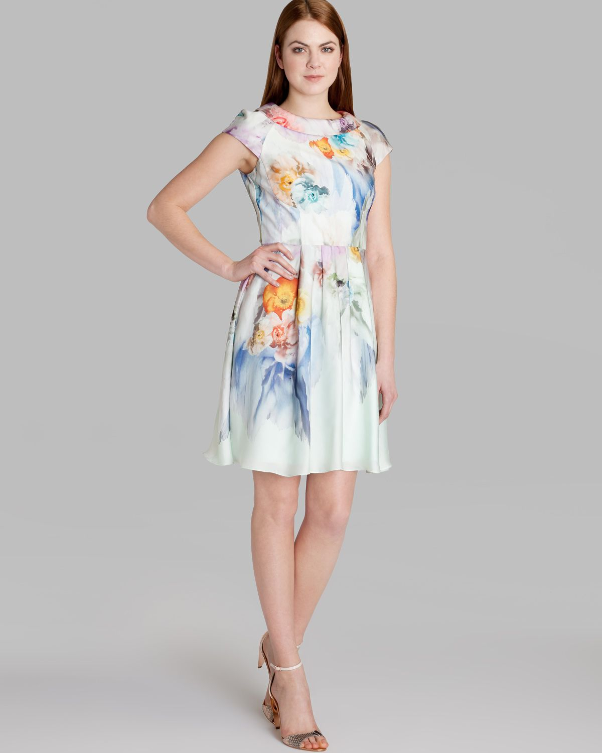 Lyst Ted Baker Dress Fieona Sugar Sweet Floral In Green
