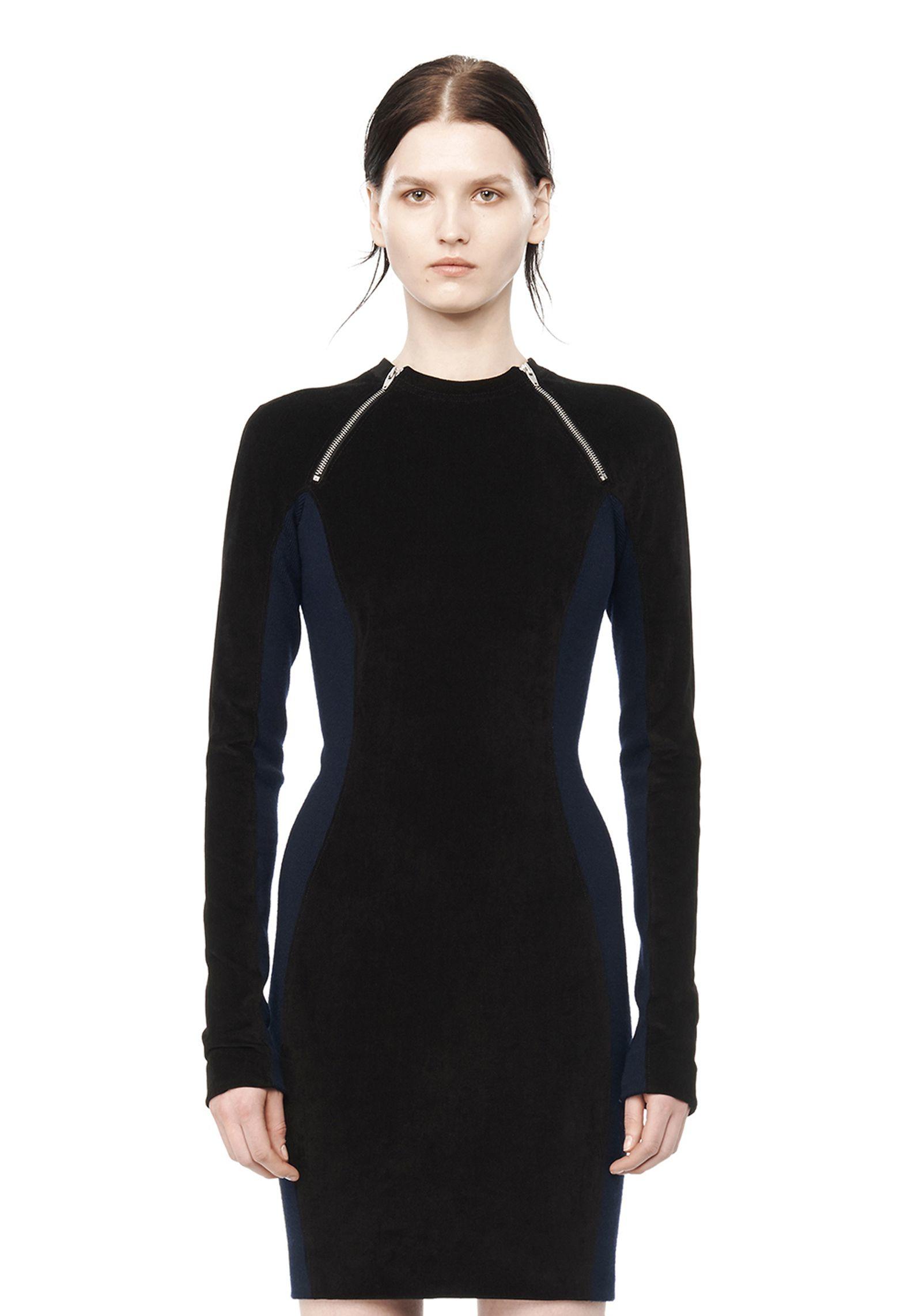 T by alexander wang black scuba dress