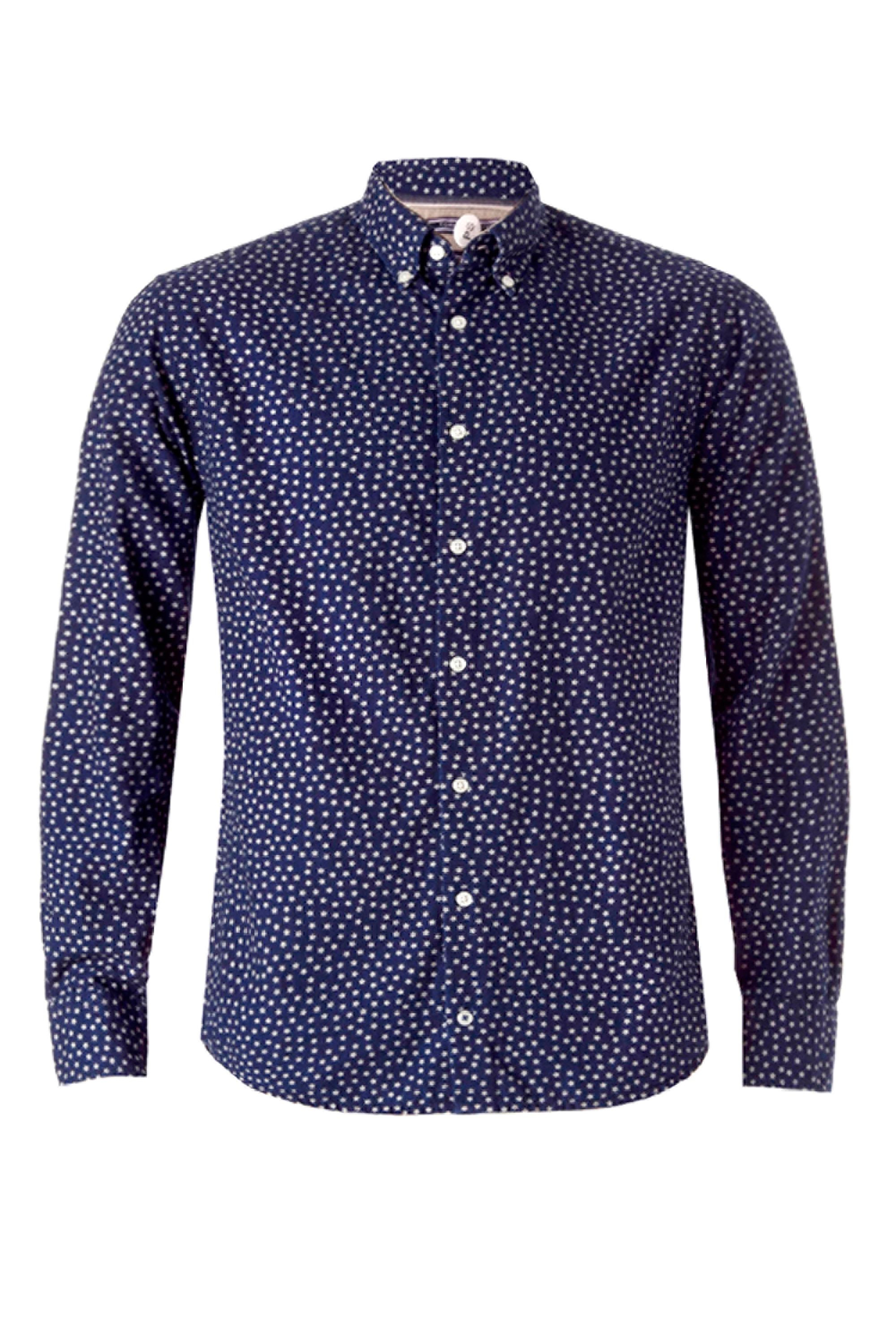 Tommy Hilfiger Star Print Shirt In Blue For Men Lyst