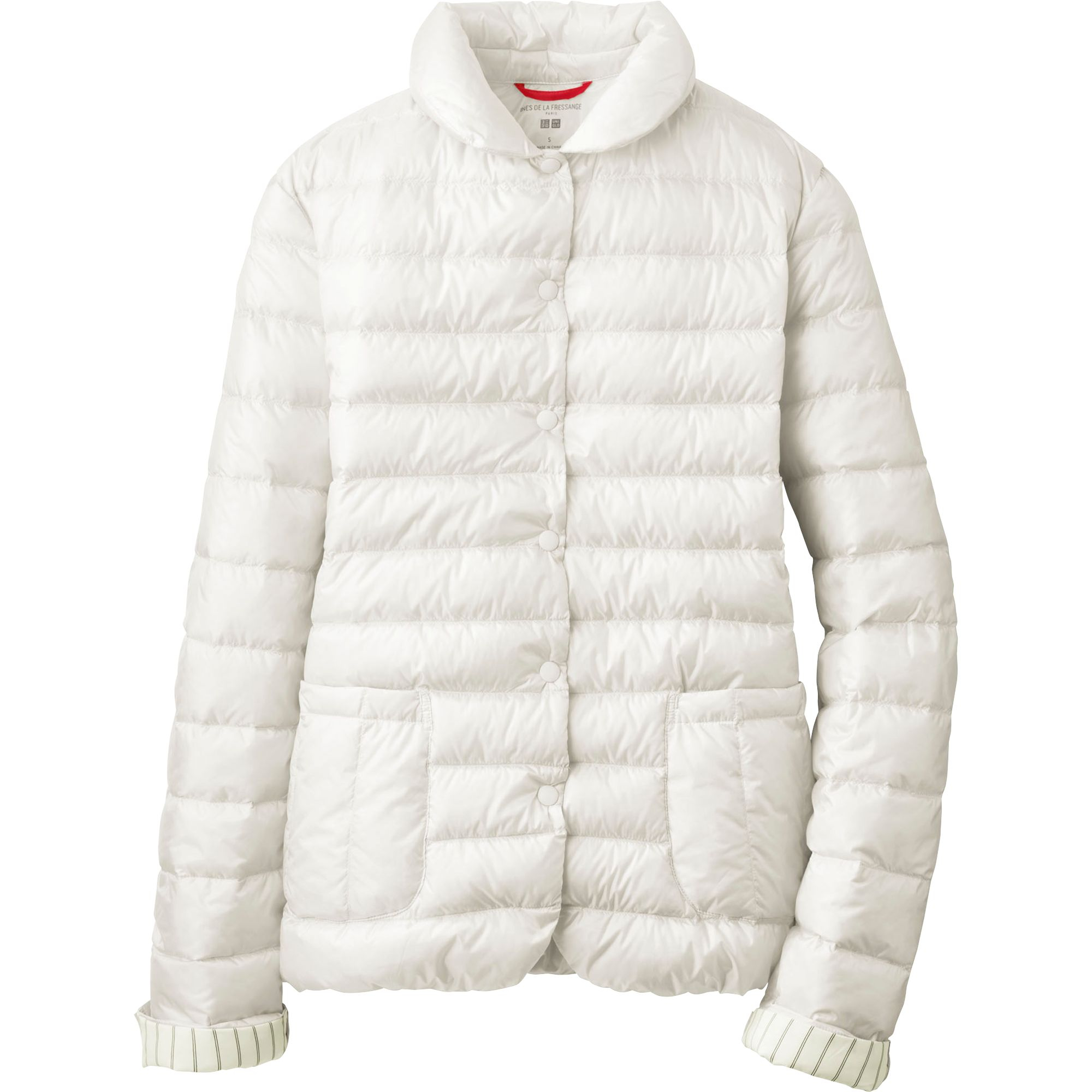 uniqlo women idlf ultra light down compact jacket in white off white. Black Bedroom Furniture Sets. Home Design Ideas